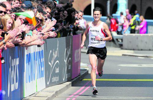 Überraschte im dritten Marathon der Karriere in London mit WM-Platz 23: Valentin Pfeil.