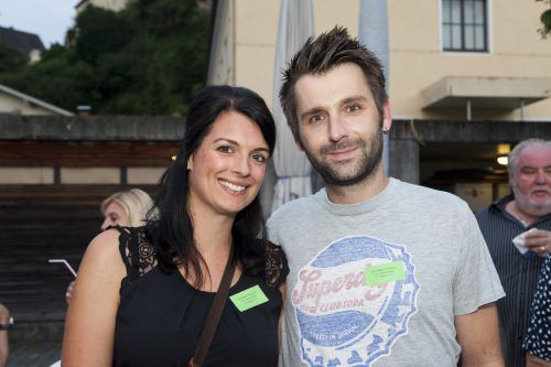 Unter den Filmfans: Simone und Dominik Walt.