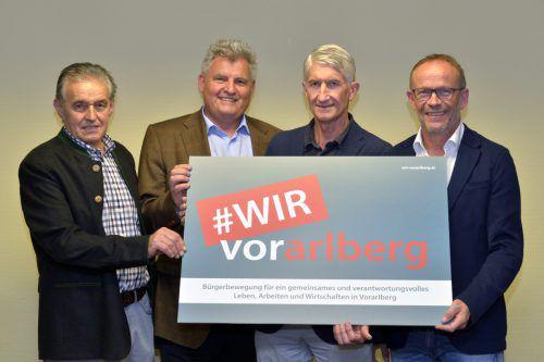 Wilfried Madlener, Hans Metzler, Wolfram Simma und Franz Kopf sind WIR. Foto: A. Serra