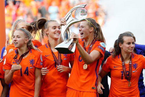 Zum ersten Mal in der Historie der Frauen-Fußball-Geschichte schafften es die Holländerinnen, den Europameistertitel zu gewinnen.Foto: reuters