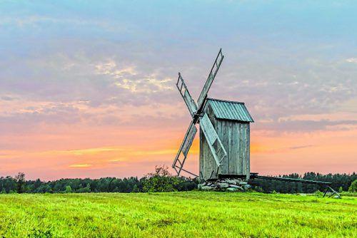 Auf der Insel Hiiumaa gibt es noch ein paar funktionstüchtige Windmühlen.