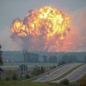 Evakuierungen nach Brand in ukrainischem Munitionsdepot