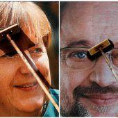 Großer Vorsprung für Merkel vor der Wahl