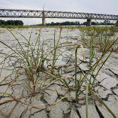 Quelle des Po wegen schwerer Dürre ausgetrocknet
