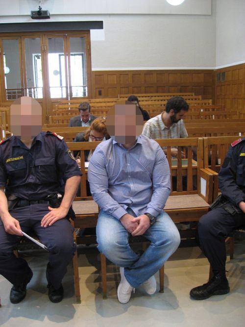 Prozess gegen Hells-Angels-Rocker 2017 am Landesgericht Feldkirch. ec