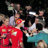 Sebastian Vettel erlebte im Nachtrennen einen Albtraum