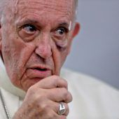 Papst Franziskus kam mit einem blauen Auge davon