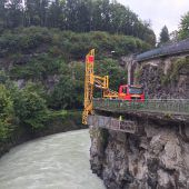 Brückenkontrolle in der Kapfschlucht