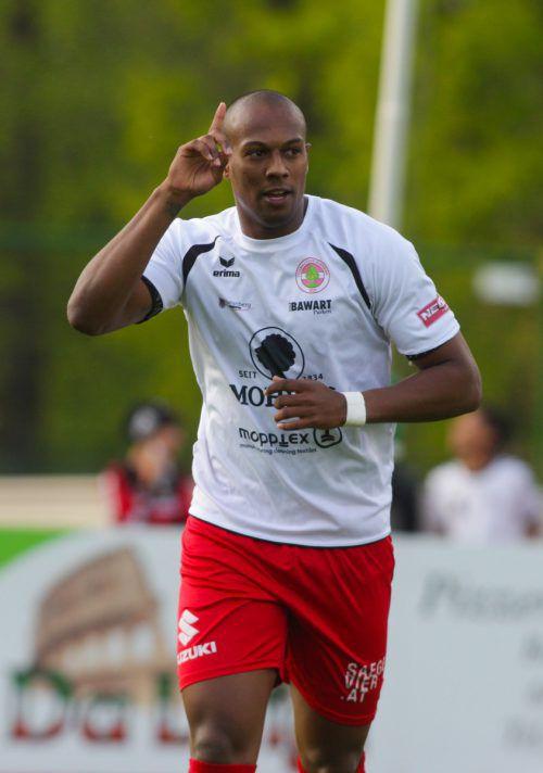 Ygor Carvalho steuerte drei Treffer zum 4:0-Auswärtssieg bei. VN-Hartinger