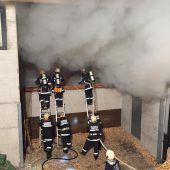 Flammen im Heizwerk in Gaschurn