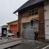 Gerätehaus in Bludesch adaptiert