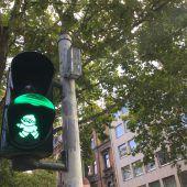 Mainzelmännchen regeln den Verkehr