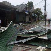 Taifun Doksuri wütet in Vietnam