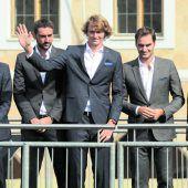 Thiem Seite an Seite mit Federer