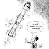 Raketenstart!