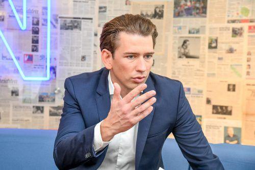 """""""Ich schätze Hans Peter Doskozil in der Zusammenarbeit"""": Sebastian Kurz im VN-Interview.  Lerch"""