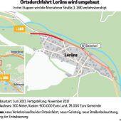 Ampelregelung für Straßenbauarbeiten in Lorüns