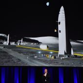 Raumschiff für Flüge auf den Mars