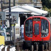 In Londoner U-Bahn ging Bombe hoch