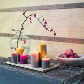 Kerzen zaubern ein schönes Ambiente
