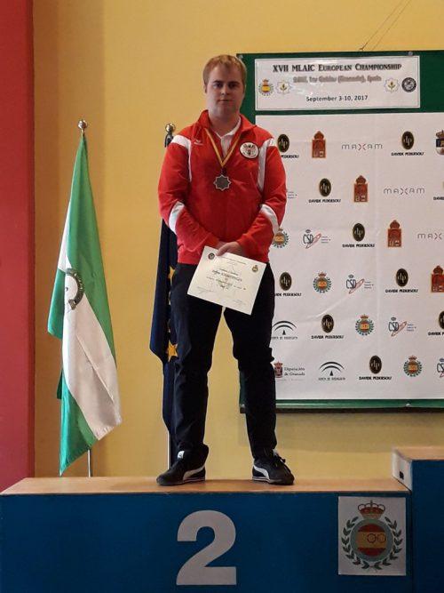 Steffen Schmidinger sicherte sich den Vizeeuropameistertitel.usg egg