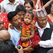 Dreijährige in Nepal zur lebenden Gottheit ernannt