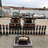 Unterwasser-Roboter tauchen in Venedig