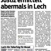 Ermittlungsverfahren gegen Lecher Bürgermeister läuft weiter