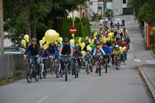 Am Sonntag wird bei der großen Fahrradparade durch Nüziders, Bürs und Bludenz geradelt. STB