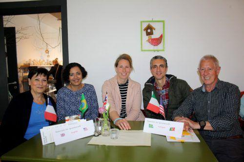 Begegnung und Unterhaltung im Sprachencafé im Brockenhaus Leiblachtal. bms