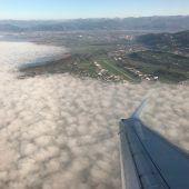 Piloten sehen Watte: Flugplan aus dem Tritt