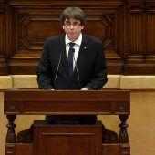 Puigdemont verschiebt Unabhängigkeitspläne