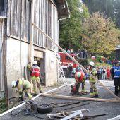 Spektakuläre Abschlussübung der Dornbirner Feuerwehr
