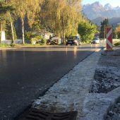 Finale Bauarbeiten auf Faschina-Straße in Ludesch