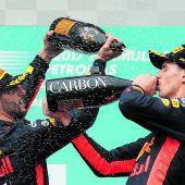 Verstappen bremst Hamilton aus, Vettel nach Aufholjagd Vierter