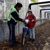 Polizei kontrollierte Fahrräder
