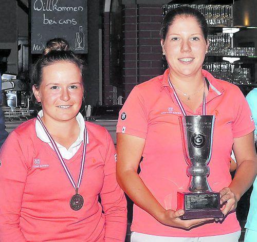 Erfolgreiches Golf-Duo: Janika Rüttimann und Julia Unterweger.GEPA
