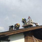 Einsatz auf dem Dach