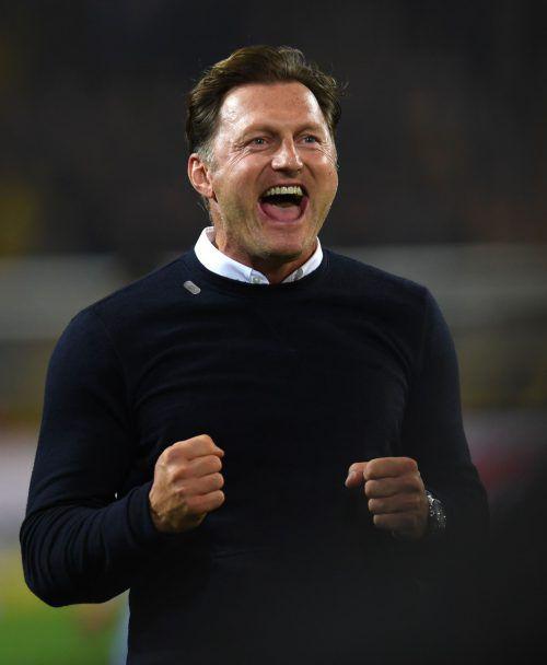 Für Hasenhüttl war der Sieg in Dortmund sein größter Erfolg als Trainer. AFP