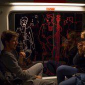 Kunstzüge in der Museumsnacht unterwegs