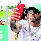 Hamilton fuhr zum 20. Malen suite in die Punkte