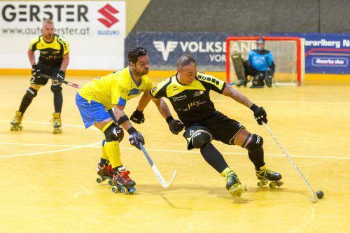 Rollhockey ist eine sehr schnelle Sportart. Die Spieler müssen konzentriert sein und Bewegungen gut koordinieren können. VN/Stiplovsek