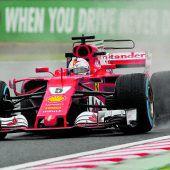 Vettel war im Regen der Vorfahrer