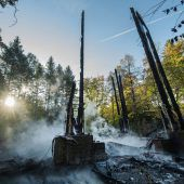 Flammen vernichten Goetheturm