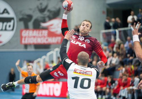 Abwehrspezialist Frederic Wüstner durfte sich gegen Ferlach mit fünf Toren über eine persönliche Liga-Bestmarke freuen.Sams