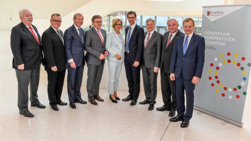 Die Landeshauptleute im November in Feldkirch: ÖVP und FPÖ scheinen nun einen ihrer Vorschläge zubesprechen.VN/Lerch