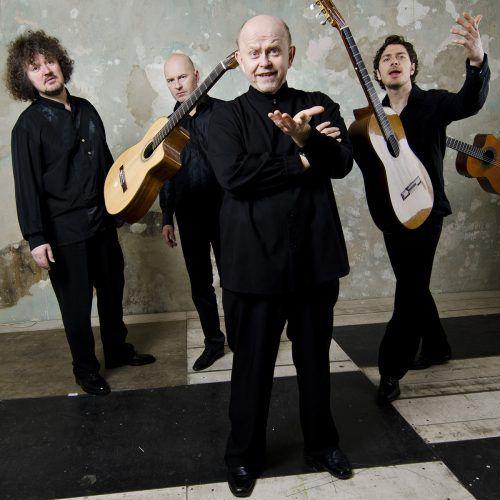 """Am Sonntag sind die herausragenden Gitarristen des European Guitar Quartetts im Rahmen der Reihe """"Gitarre Ambach"""" in Götzis zu Gast.European guitar quartett"""