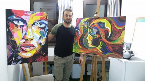 Bashir Turki wäre glücklich, für seine Bilder, die zurzeit entstehen, eine Ausstellungsmöglichkeit zu finden.