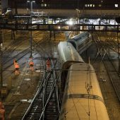 ICE entgleist im Bahnhof Basel