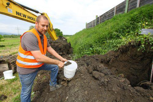 Auf dem Häusle-Gelände wurden über Monate zahlreiche Bohrungen und Grabungen durchgeführt. hb